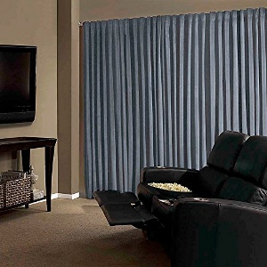 Stone Blue Absolute Zero Curtains - Best Noise Reduction Curtains For Home
