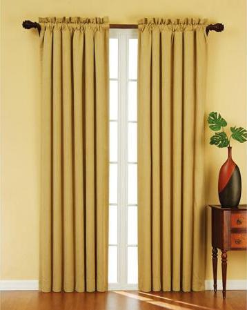 Eclipse Suede Energy Efficient Curtain Golden Sand