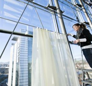 Annette Douglas textiles sound absorbing curtains