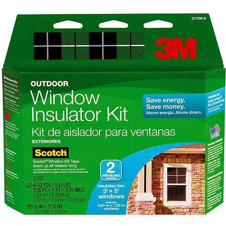 3M Outdoor Window Insulator Kit For 2 Windows - Heat Reflective Window Film
