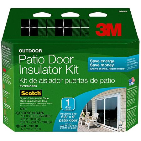 Heat Reflective Window Film - 3M Outdoor Window Insulator Kit Patio Door