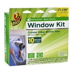 Heat Blocking Window Film - Duck Brand Shrink Film Indoor Window Kit Side