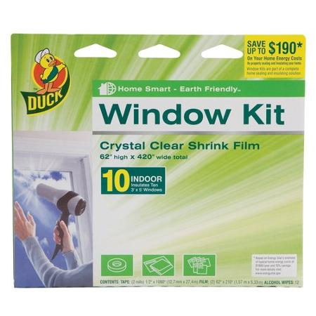 Duck Brand Shrink Film Indoor Window Kit