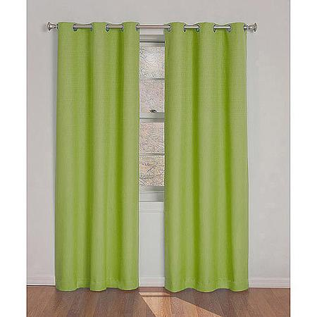 Eclipse Kids Dayton Energy-Efficient Curtain Lime Thermal Curtain