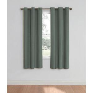 Eclipse Nottingham Thermal Energy Efficient Grommet Curtain Panel River Blue