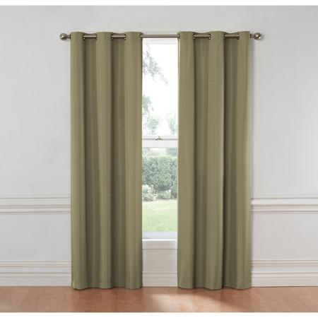 Cheap Insulated Curtains Eclipse Nottingham Thermal Energy Efficient Grommet Curtain Panel Silver Sage