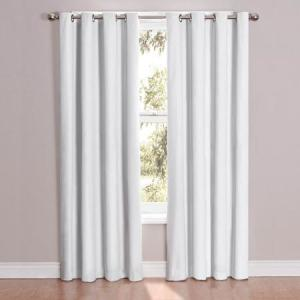 Eclipse Casey White Blackout Curtain Eneergy Efficient Thermal Soundproof Curtain