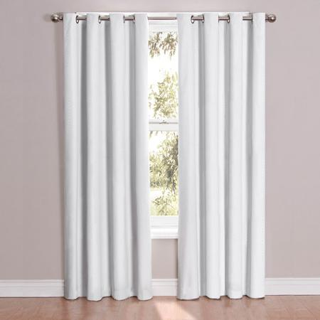 Eclipse Casey White Blackout Curtain Energy Efficient Thermal Soundproof Curtain, Eclipse Blackout Curtains, White Eclipse Blackout Curtains
