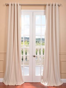 Ivory Velvet White Blackout Curtains Grommets Are Some Of The Best Thermal Window Treatments