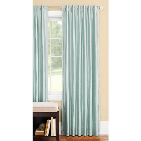 Better Homes And Gardens Faux Silk Thermal Curtains In Green Juniper