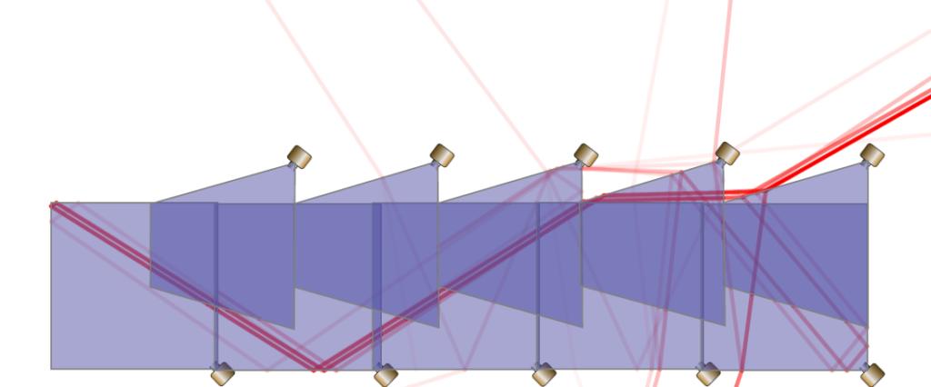 Wedge Acoustic Foam Under 60 Degree Sound Incidence - Vertical Wedge Auralex Studiofoam DST 112