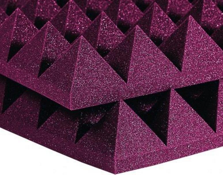 Auralex Studiofoam Pyramid Foam Purple Sound Deadening Foam Panels