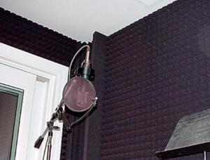 Sound Deadening Foam Auralex Pyramid Panels In DIY Home Recording Studio